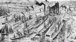 Pier 53 wharves from an 1887 engraving